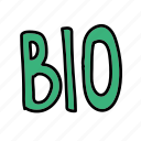 bio, eco, letters, logo, nature icon