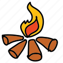 camp, camping, eco, fire, nature, scouting icon