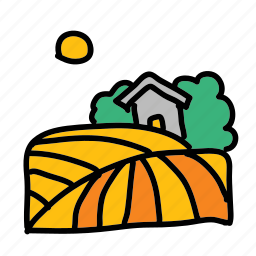 country, eco, farm, nature, plant, side icon
