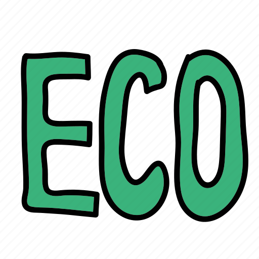 eco, guardar, letters, logo, nature, save, sign icon