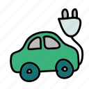 car, eco, electric, guardar, nature, plug, save, vehicle icon