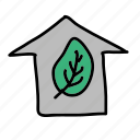 eco, garden, green, guardar, house, plant, preserve, save icon