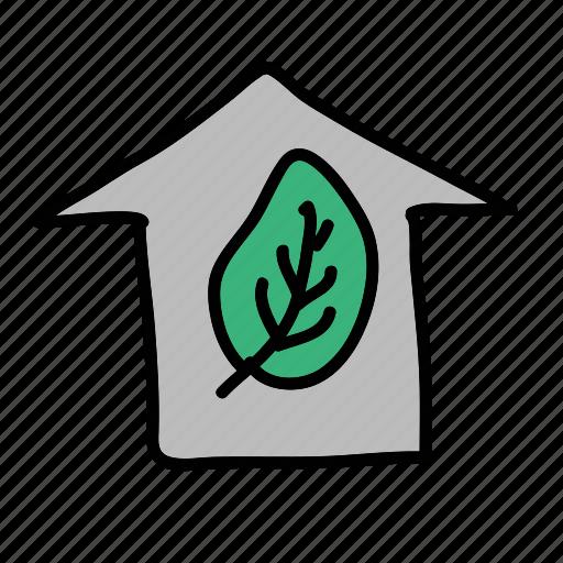 eco, garden, green, guardar, house, plant, preserve, save icon