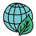 eco, leaf, nature, preserve, save, world icon
