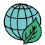 eco, guardar, leaf, nature, preserve, save, world icon