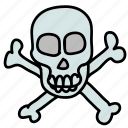 bones, dangerous, deadly, eco, lethal, nature, skull icon