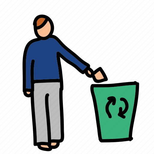 can, eco, man, nature, preserve, recycling, trash icon