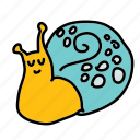 cute, eco, garden, park, slow, smile, snail icon