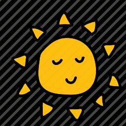 eco, nature, smile, sun, warm icon