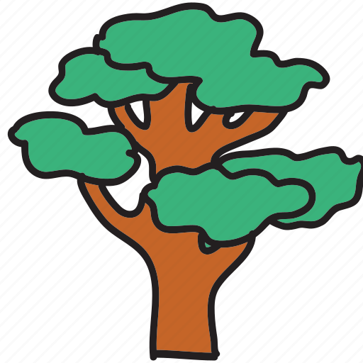 eco, forest, large, leaves, nature, preserve, tree icon
