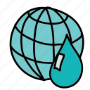 eco, guardar, preserve, save, waste, water, world icon