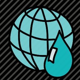 eco, guardar, preserve, save, waste, water, world icon