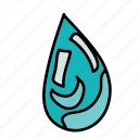 drop, eco, nature, preserve, save, water icon