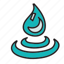 drop, eco, guardar, nature, preserve, ripples, save, water icon