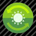 ecofarm, sun, plant, forecast, sunny, day, moon icon