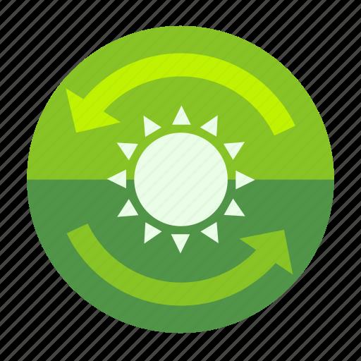 day, ecofarm, forecast, moon, plant, sun, sunny icon