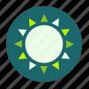 ecofarm, sun, light, weather, sunny, grow, forecast icon