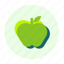 apple, eating, ecofarm, food, fruit, healthy, meal icon