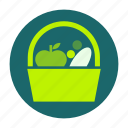 ecofarm, food, fruit, healthy, vegetable, picnic, meal icon
