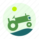 construction, ecofarm, farmer, tool, tractor, work, worker icon