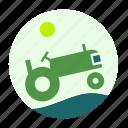 ecofarm, tractor, farmer, construction, tool, work, worker icon