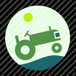 construction, ecofarm, farmer, tool, tractor, work, worker icon
