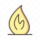 bonfire, fire, flame icon
