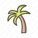 island, palm, plant, tree icon