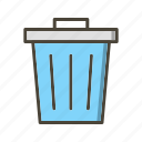 dust bin, recycle bin, trash icon