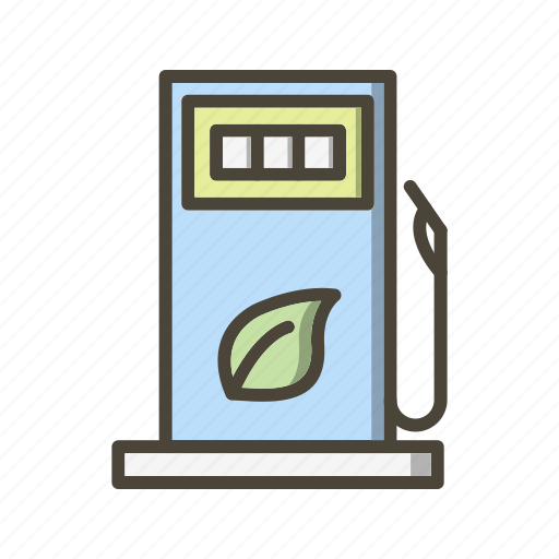 eco station, fuel station, gas station, petrol station icon