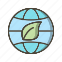 eco world, ecology, globe, nature icon