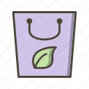 eco bag, recycle, reusable icon