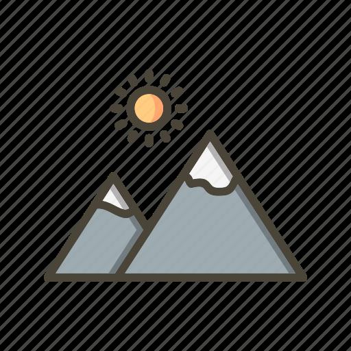 environment, gallery, mountain, nature icon
