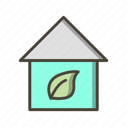 eco home, ecology, house icon