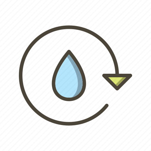 ecology, recycle, save water icon