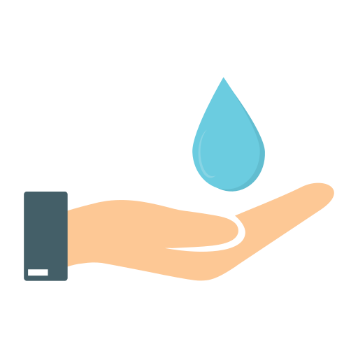 care, ecology, hand, water icon