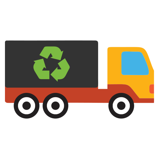 garbage, recycle, truck, waste icon