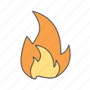 bonfire, flame icon
