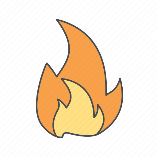 bonfire, flame icon