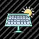 eco, energy, panel, solar icon