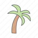 island, palm, tree icon