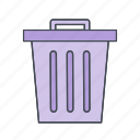basket, dust bin, trash icon