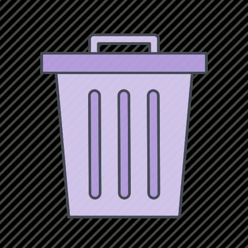 basket, dust bin, trash icon