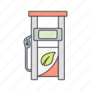 eco, fuel, gas station icon