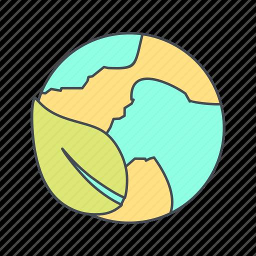 ecology, globe, world icon