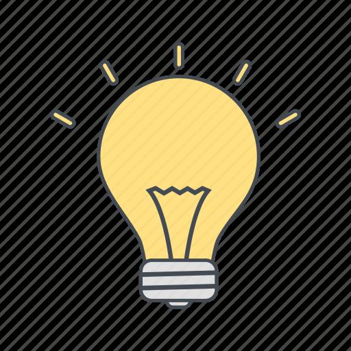 bulb, eco, light bulb icon