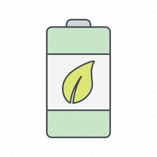 eco battery, energy, renewable icon