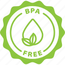 bpa free, label, tag