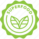 superfood, food, badge, powerfood, healthy, label, green icon