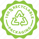 eco packaging, label, packaging, recyclable, recycle, tag icon
